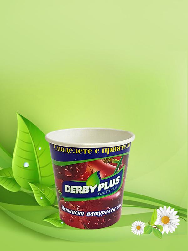 Картонена чаша за студени напитки 150 мл / 5,5 oz
